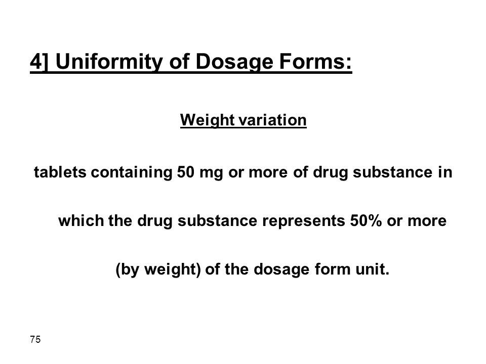 4] Uniformity of Dosage Forms: